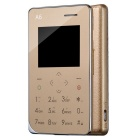"AIEK A6 Mini Ultra-thin 1.77"" Card Phone Support WeChat / QQ / Pedometer w/ 8GB ROM - Gold"