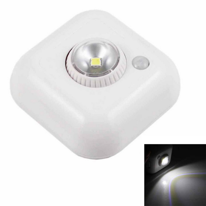 360° Rotatable 0.5W LED Sensor Light Single-head PIR AUTO LED Light