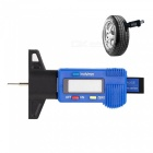 Digital LCD 0~25mm Metric / Inch Car Tyre Tire Tread Depth Gauge Diagnostic Tool - Blue