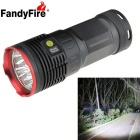 FandyFire 7-LED XM-L T6 6000lm High Bright LED Flashlight - Red (4 x 18650)