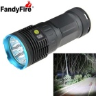 FandyFire 7-LED XM-L T6 6500lm High Bright Rechargeable LED Flashlight - Blue (4 x 18650)