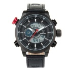 BESNEW BN-1503 Men's Multifunctional Waterproof Sport Analog + Digital Quartz Watch - Black