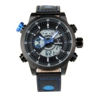 BESNEW BN-1503 Men's Multifunctional Waterproof Sport Analog + Digital Quartz Watch - Black + Blue