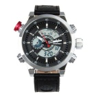 BESNEW BN-1503 Men's Multifunctional Waterproof Sport Analog + Digital Quartz Watch - Silver + Black