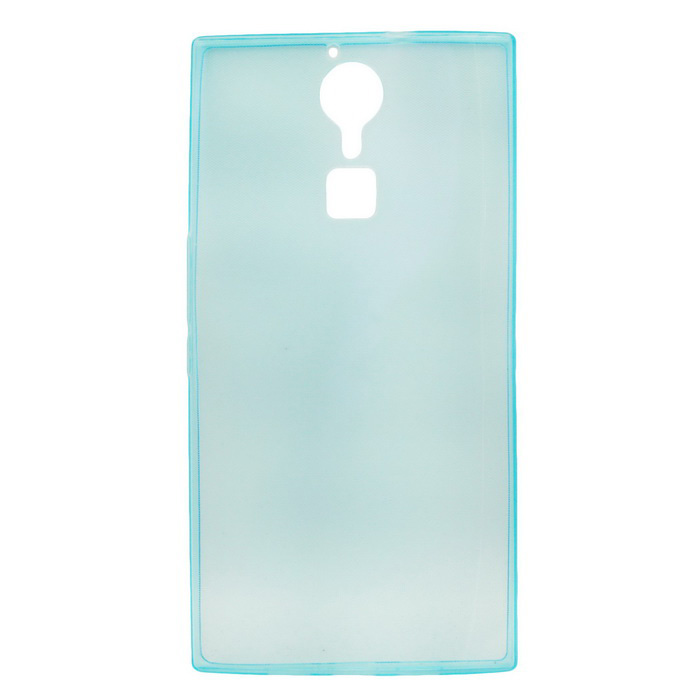 TPU Back Protective Cover Case for DOOGEE F5 - Translucent Blue