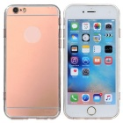 Protective TPU Mirror Back Case Cover for IPHONE 6 / 6S - Rose Golden