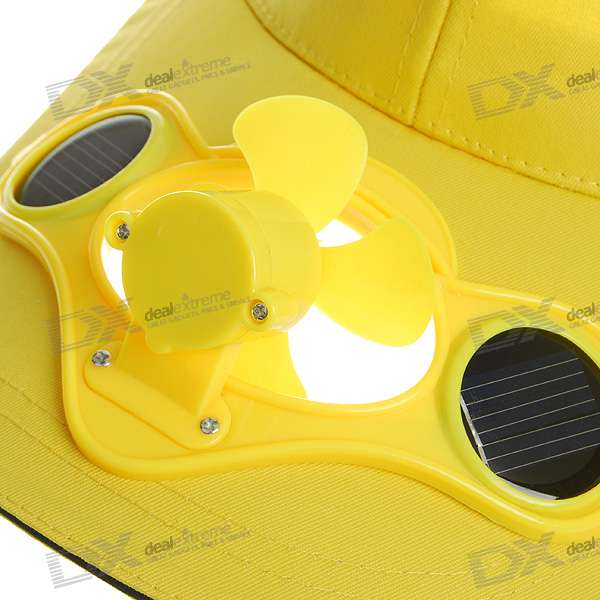 Stylish Baseball Hat Cap With Solar Powered Cooling Fan