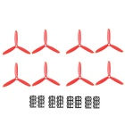 3-Blade 5045 CW and CCW Propellers Props Set for H250 250mm Quadcopter Multi-Copter - Red (4 Pairs) - R/C Toys Hobbies and Toys