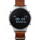 "J2 0.97"" Leather Round Screen Smart Watch w/ Pedometer, Sync. SMS, Remote Camera, Phone Call"