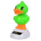 Solar Powered Dancing Duck Desk Table Decoration Car Decor - Green