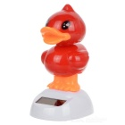 Solar Powered Dancing Duck Desk Table Decoration Car Decor - Red
