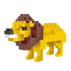 WLTOYS 6616 Lion Building Blocks Educational Toy for Children / Kids - Yellow + Multi-Color