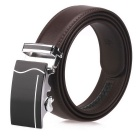 Fanshimite J05 Men's Automatic Buckle Leather Belt - Brown (125cm)
