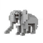 WLTOYS 6618 Elephant Building Blocks Educational Toy for Children / Kids - Grey + White
