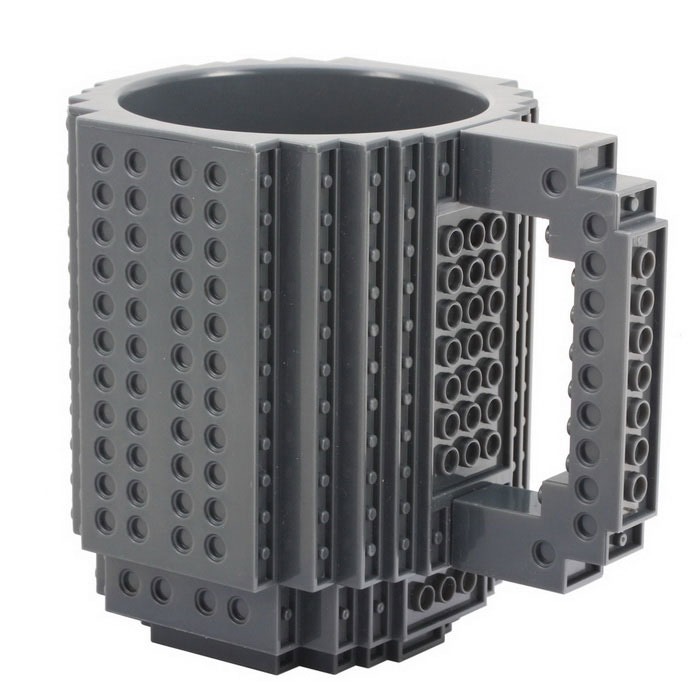 DIY Creative Block Puzzle Mug - GreyBlocks &amp; Jigsaw Toys<br>Form  ColorGreyMaterialNon-toxic PlasticQuantity1 DX.PCM.Model.AttributeModel.UnitNumberA packet of accessories (random 8-12 blocks)SizeCapacity: 300mlSuitable Age 5-7 years,8-11 years,12-15 years,Grown upsPacking List1 x DIY Brick Mug<br>