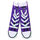 Creative Spoof Fun Shoes Printing Cotton Socks - Purple + Multicolored (Pair)