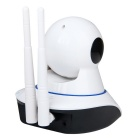 355 Degree Rotation 720P 2-way Audio Wireless Smart IP Camera - White