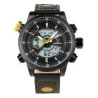 BESNEW BN-1503 Men's Multifunctional Waterproof Sport Analog + Digital Quartz Watch - Black + Yellow