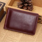 Unisex Fashion Folding PU Leather Wallet Purse w/ Cash Clip - Coffee