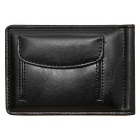 Unisex Fashion Folding PU Leather Wallet Purse w/ Money Cash Clip - Black