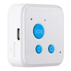 GPS / GPRS Phone GSM SOS Dual Talk Tracker for Kid / Elderly - White