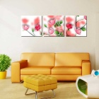 "Bizhen Frame-Free 3 Panels Pink Rose Painting Canvas Wall Decor Murals (59.06"" x 19.69"")"