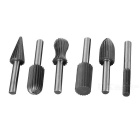 6-in-1 Hard Rotating File Carver Grinding Tool Set - Gray