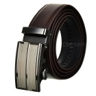 Men's Fashionable Cow Split Leather Belt w/ Zinc Alloy Automatic Buckle - Brown (120cm)