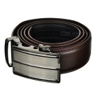 Men's Fashionable Leather Belt w/ Automatic Buckle - Brown (120cm)