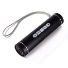 Bluetooth V2.0 Flashlight Speaker w/ FM 2600mAh Power Bank Flashlight Support TF card - Black