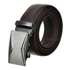Men's Fashionable Automatic Buckle Leather Belt - Brown (120cm)