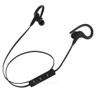 Fashion Portable Ear Hook Sport Bluetooth Headset - Svart