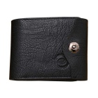 Men's Fashionable PU Leather Cards Holder Hasp Wallet Purse - Black