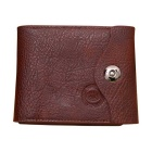 Men's Fashionable PU Leather Cards Holder Hasp Wallet Purse - Coffee