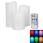 18-Button 12-Color Remote Control LED Electronic Candle Lamp - White