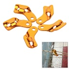Outdoor Camping Anti-Slip Tent Cord Rope Guy Line Runner Tightener Fastener Tensioner - Golden(5pcs)