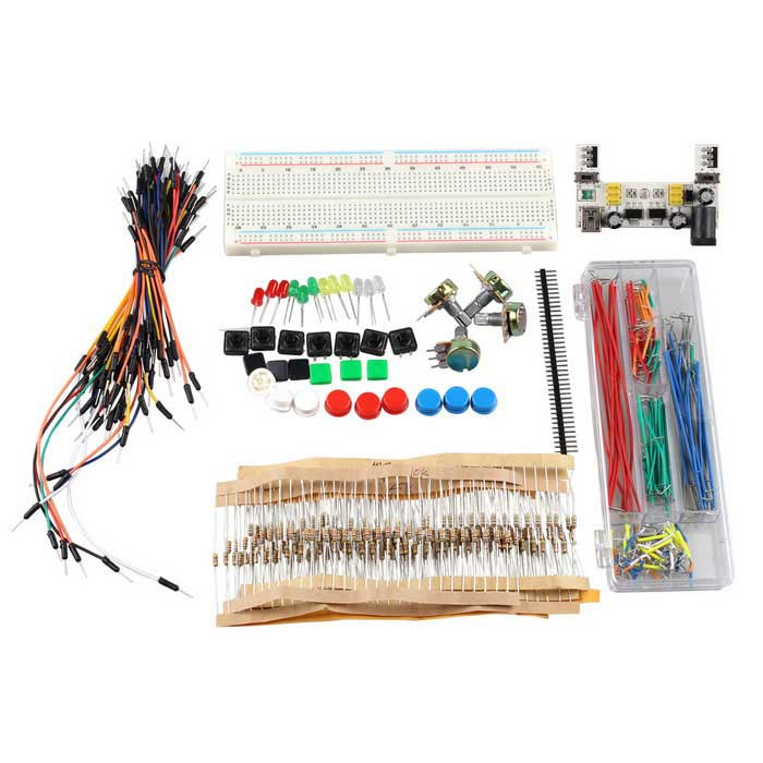 DIY Electronic Components Kit with Breadboard Power Module