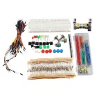 DIY Electronic Components Kit with Breadboard Power Module Jumper Wires Switches for Arduino