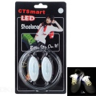 CTSmart Outdoor Cycling Accessory Waterproof White LED Luminous Glass Fiber Shoelace - White +Silver