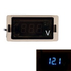 12~24V Waterproof Motorcycle Digital Voltmeter w/ Blue LED Light