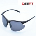 OSSAT UV400 PC Frame Polarized Lenses Sunglasses - Black + Grey