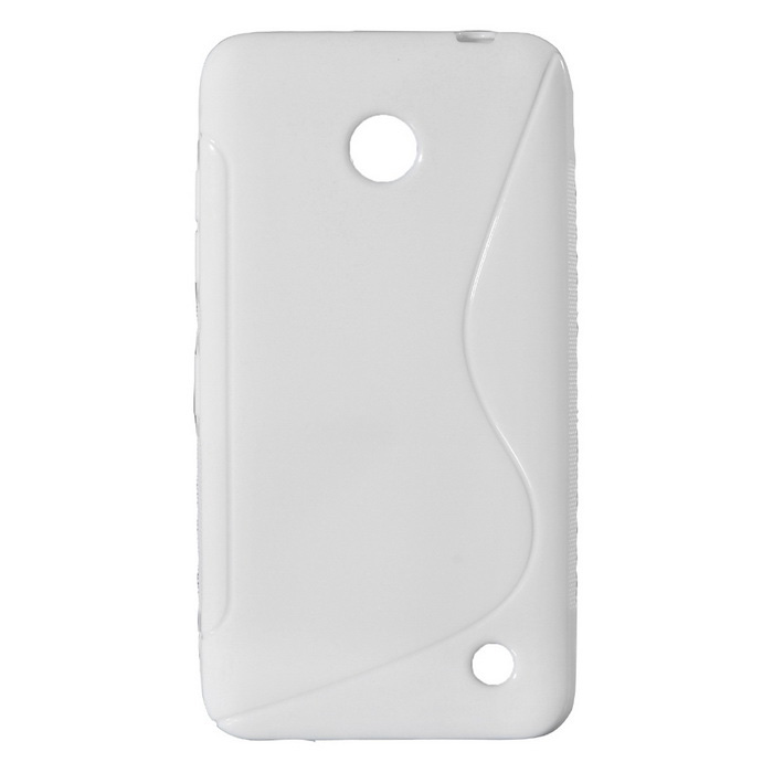"""S"" Style Protective TPU Back Case for NOKIA Lumia 630 / 635 - White"