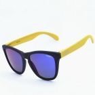 OSSAT MX-1002 Outdoor Sports PC Frame Blue REVO Polarized Lenses Glasses - Yellow + Black