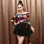 Women's Korean Style Cotton Printing Long-Sleeve Top - MultiColor (M)