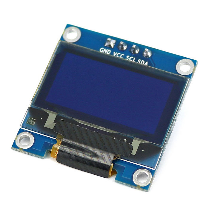 I c blue color oled display module board for