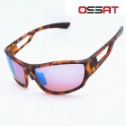 OSSAT Outdoor Sports Cycling PC Frame Blue REVO Polarized Lenses Glasses Sunglasses - Agate Red