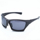OSSAT PL-026 Outdoor Sports Cycling PC Frame Polarized Lenses Sunglasses - Black + Grey