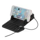 Anti-Slip Mat Pad Car Holder w/ Charging Station for Cellphone - Black