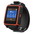 Heacent W08 Waterproof Smart Sports Watch Phone w/ SIM, Siri Call, Sleep Monitoring - Black + Orange