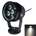 Jiawen 6W 6-LED Underwater Light Spotlight Lamp White Light 6500K 480lm - Black (DC 12V)